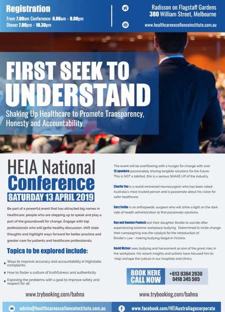 HEIA National Conference 2019 – HealthCare Excellence Institute